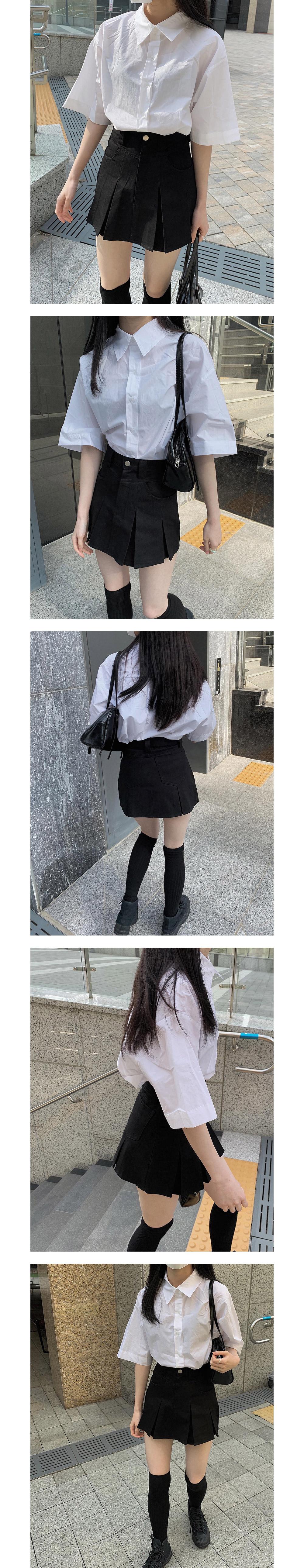 Cotton Box Fit Short Sleeve Shirt