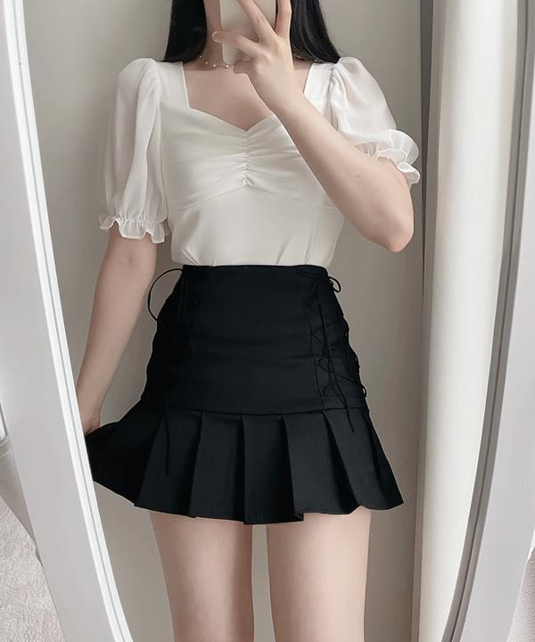 Ellui shirring blouse 2color