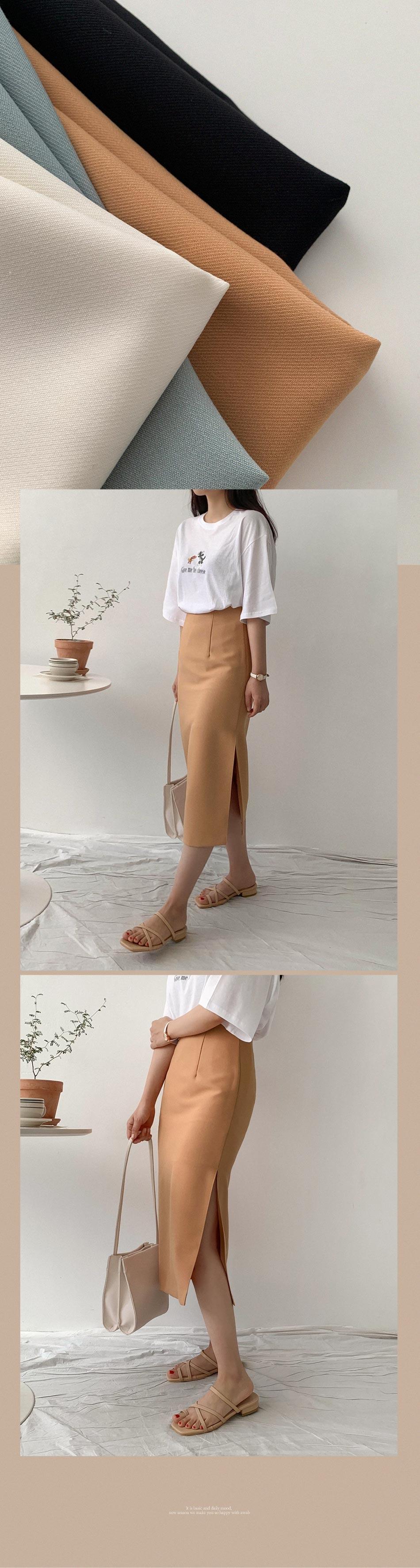 Toned H long skirt