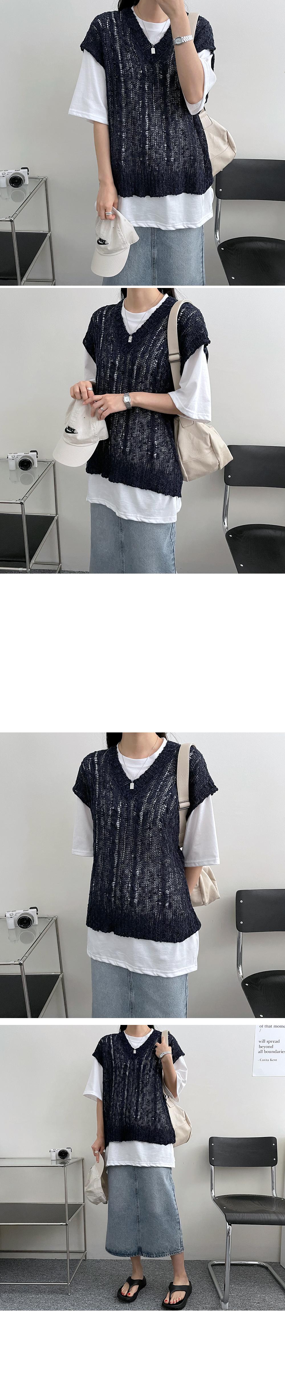 Slob Bookle Twisted Loose Fit Knitwear Vest