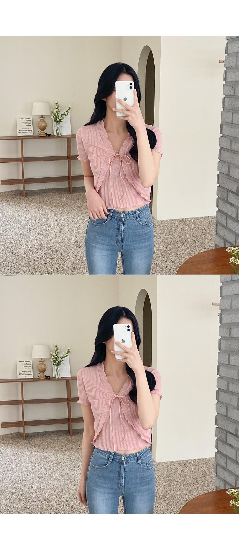 Pang Pang Sleeveless SET Short Sleeve Bolero Cardigan + Sleeveless Set Product :D