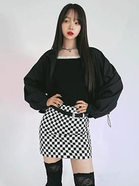 checkered flow miniskirt