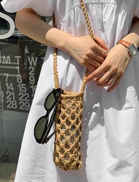 Honeycomb Knitwear Mini Shoulder Bag