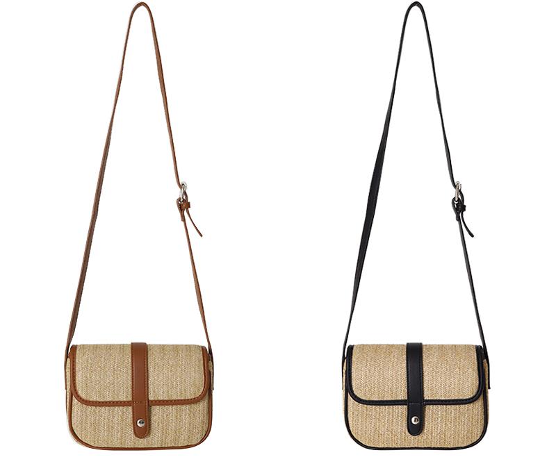 Margaret straw flap shoulder bag