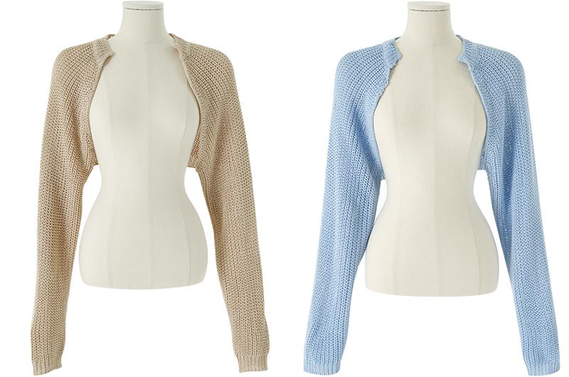 Pastel Knitwear Bolero Cardigan