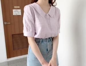 Notner collar-neck blouse