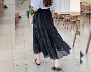 Panky Ring Banding Cancan Long Skirt
