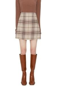 Wendy check mini skirt