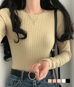 Merni Ribbed Knitwear T-shirt