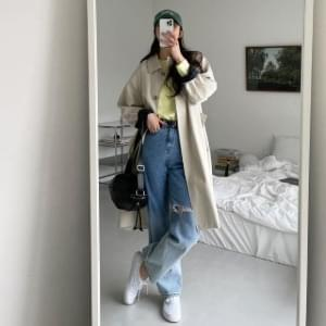 April check-lined trench coat