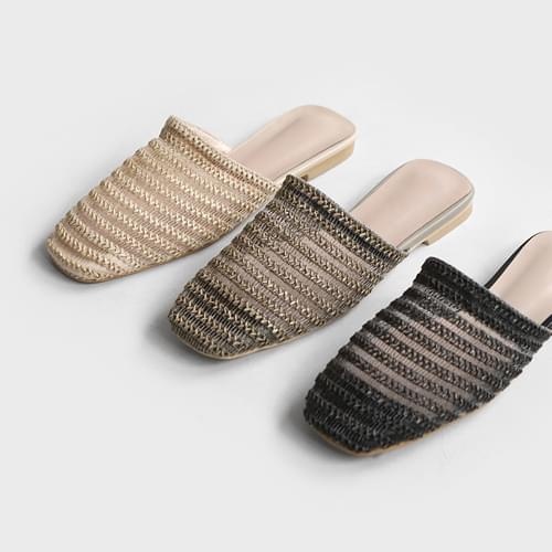 Sepin mesh weave slippers