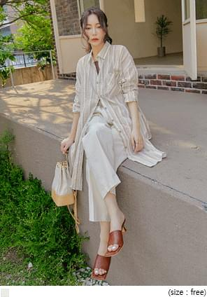 Stripe Pattern Long Shirt