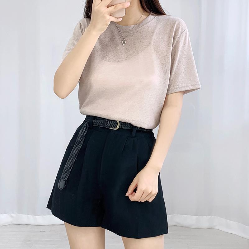 Trough Cotton Pintuck Shorts