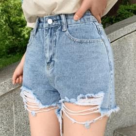 Win's Damage Cut Mini Short Pants