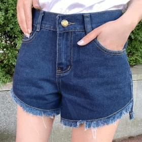 Looming Unfoot Cut Denim Short Pants