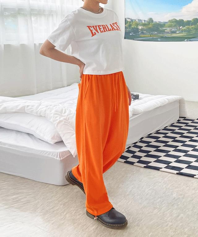 Mobrine-stitched two-way banding trousers