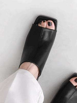 Square Outsole Toe Open Wide Upper Gaboshi Mule Sandals 5361