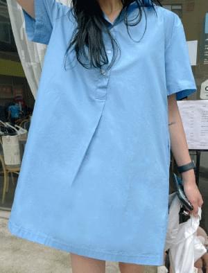 sling pocket shirt Dress