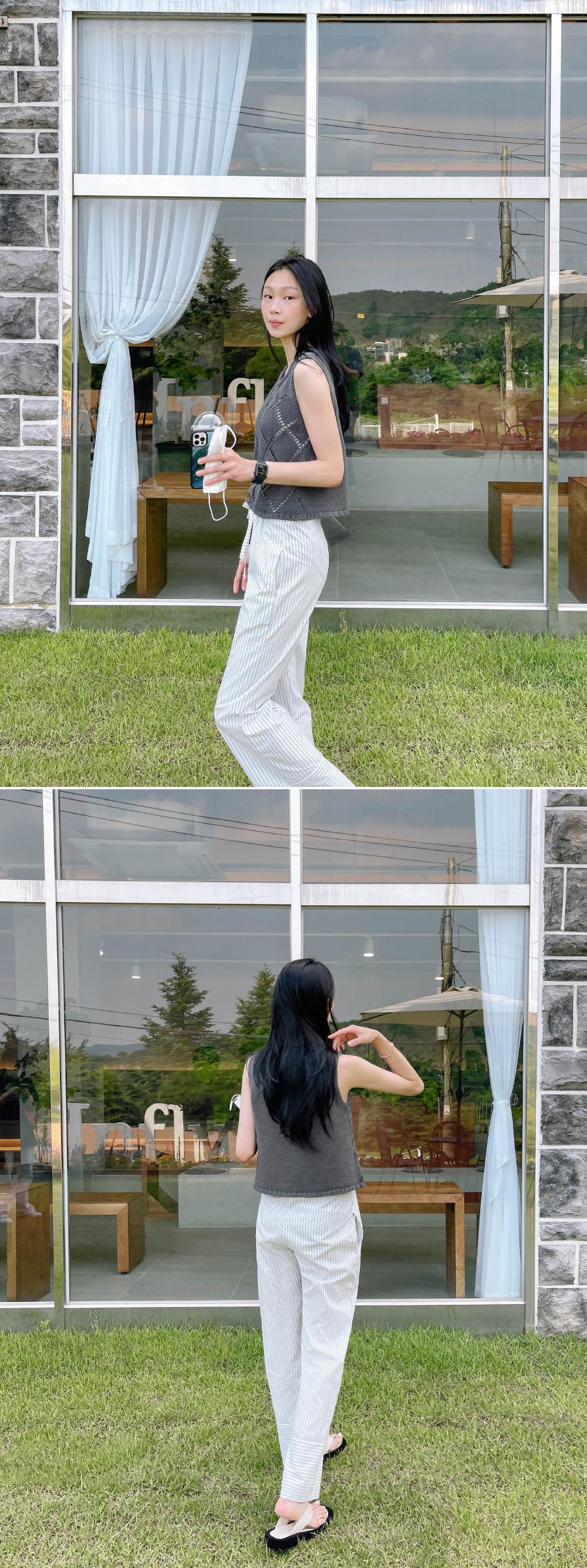romel stripe banding pants
