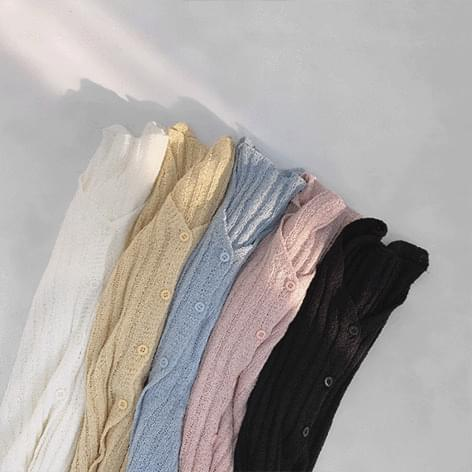 Pony Ribbed Knitwear Cardigan