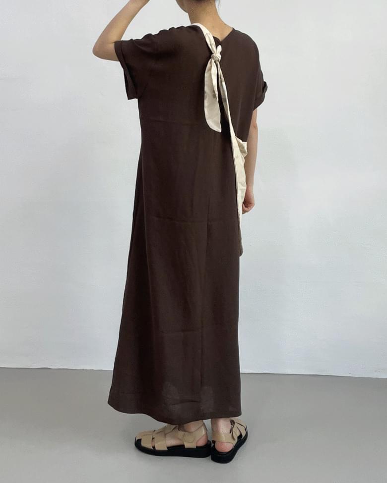 Hops Strap V-Neck Long Dress