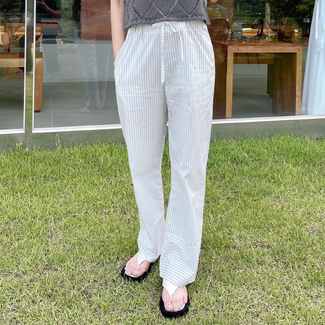 romel stripe banding pants 長褲