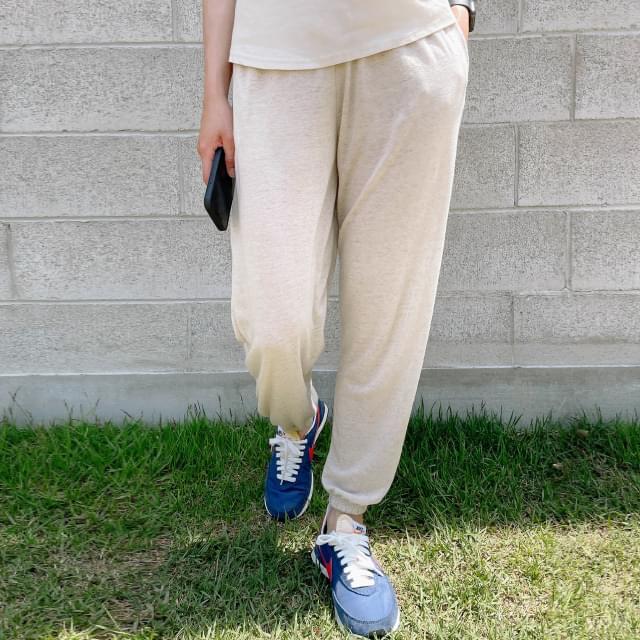 Say Waistband Linen Jogger Pants 長褲