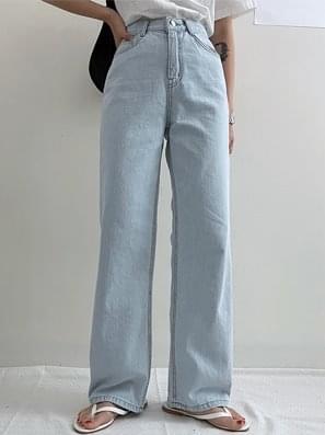 Max Light Blue Wide Denim Pants