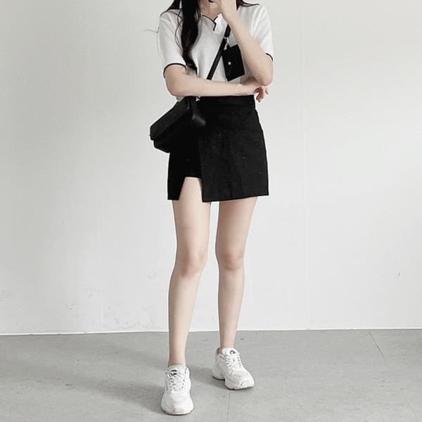 wrap slit miniskirt