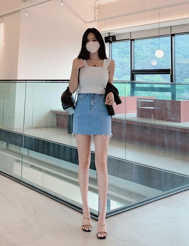 kelo line pocket mini skirt