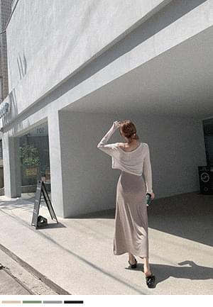 Great Line Fit Knitwear Tee + Sleeveless Dress SET