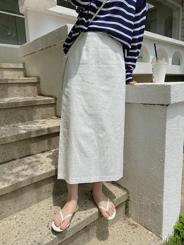 Tan Tan H-Line Linen Skirt