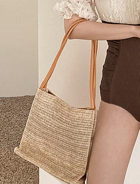 Comb Straw Shoulder Bag