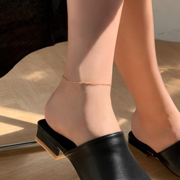 Silver 925 line thread anklet 2color