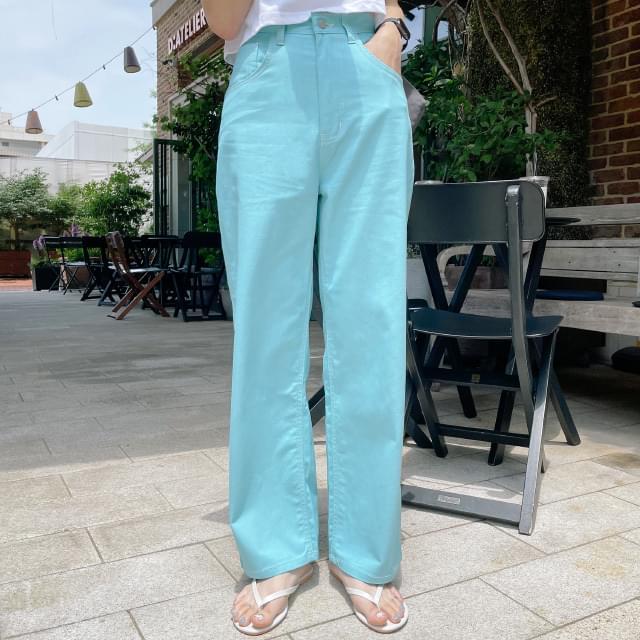 Soda vivid wide fit cotton pants 長褲