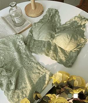 Blanc Lace Underpants Bra Set