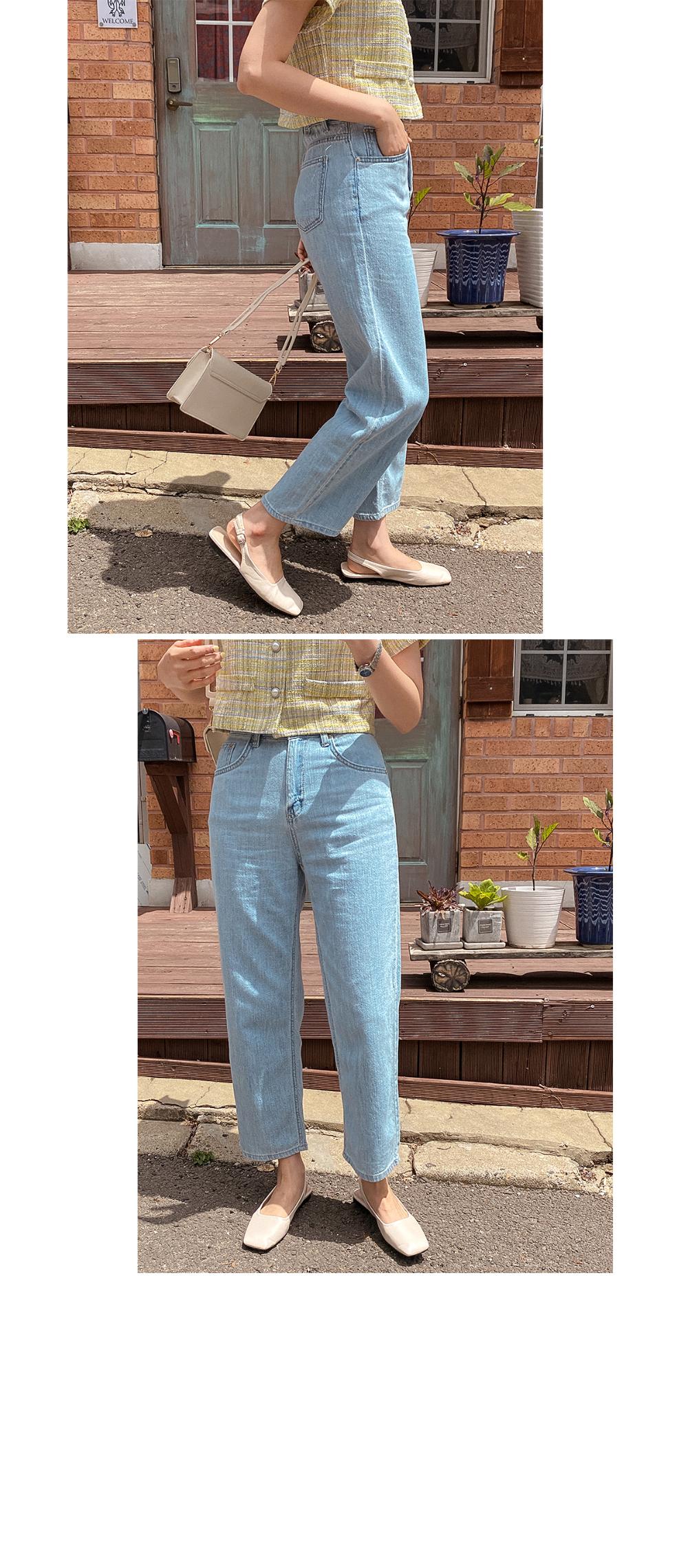 Ron Tweed Crop Blouse - 3color