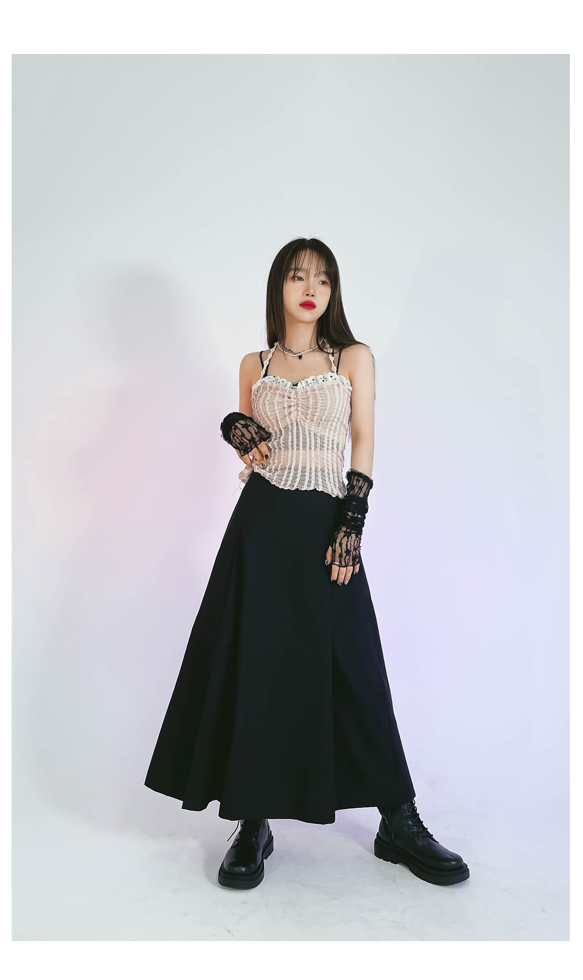 Lace Wend Crop Sleeveless