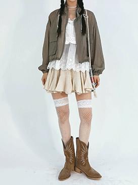 linen froll miniskirt