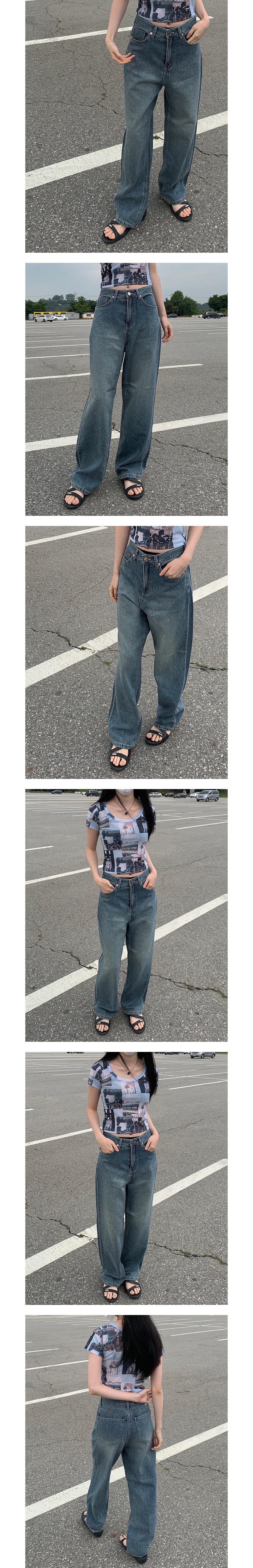 Teen Denim Wide Pants