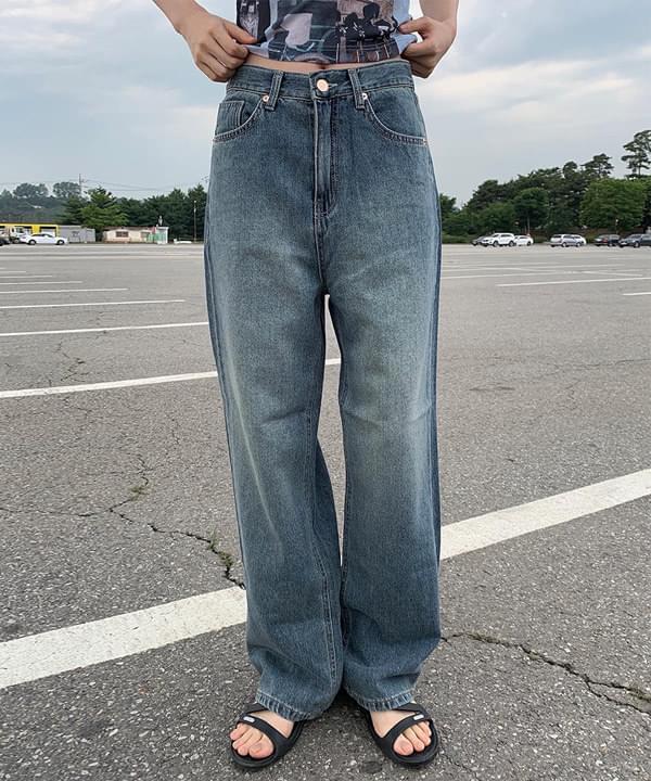 Teen Denim Wide Pants 牛仔褲