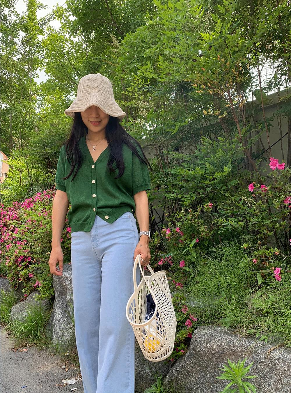 Summer Linen Short Sleeve Wrap Cardigan