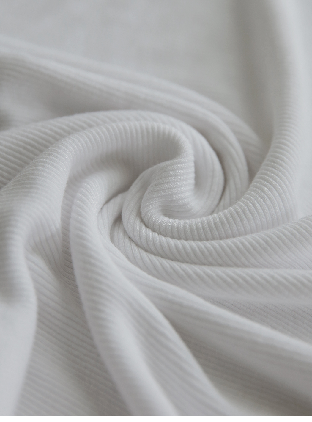 Layered Ribbed Rayon Short Sleeve Tee