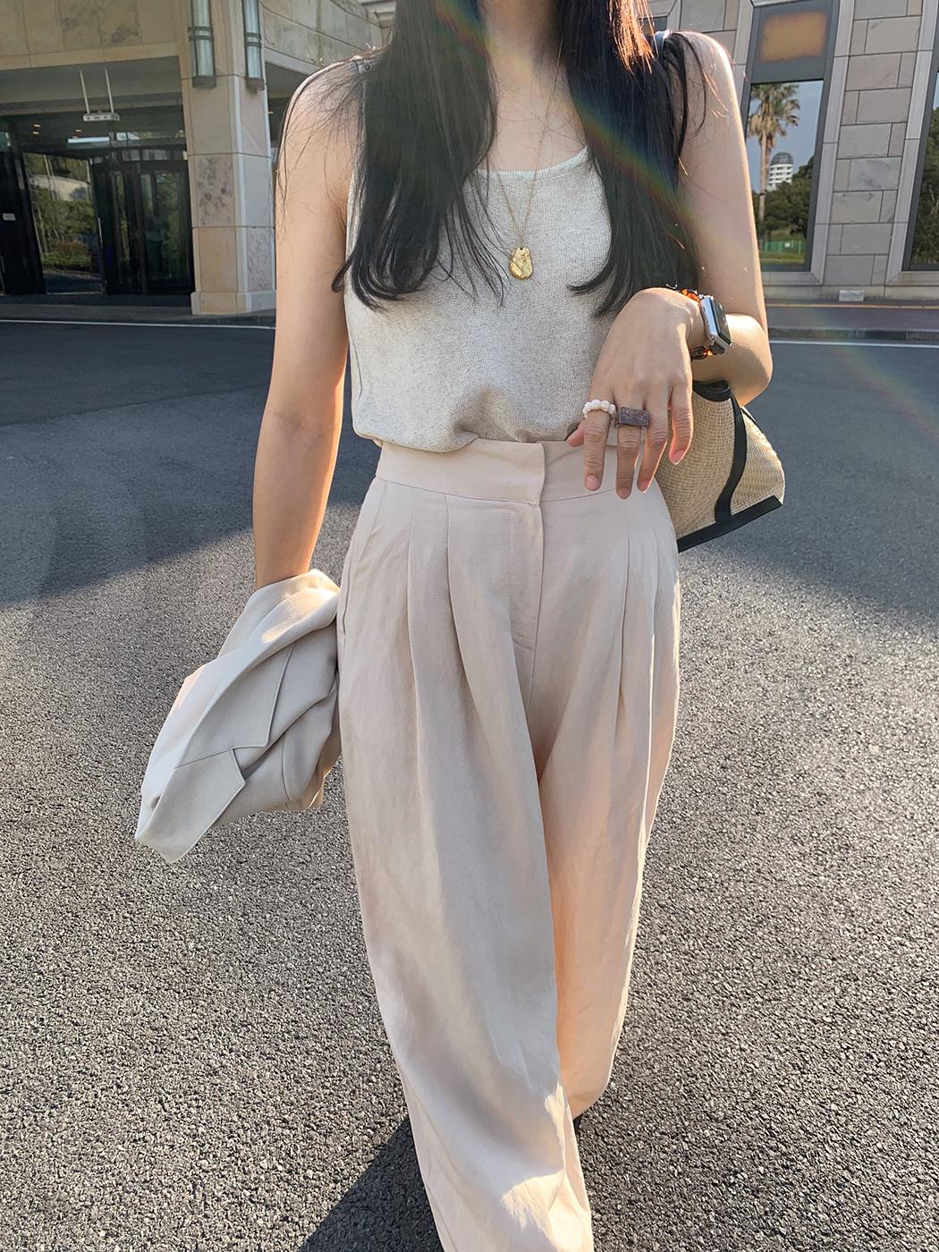 Summer Linen Sleeveless Knitwear Top