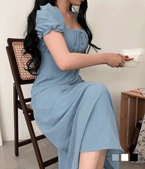 Dasuny bean button long Dress
