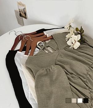 Soft fit gauze cancan blouse