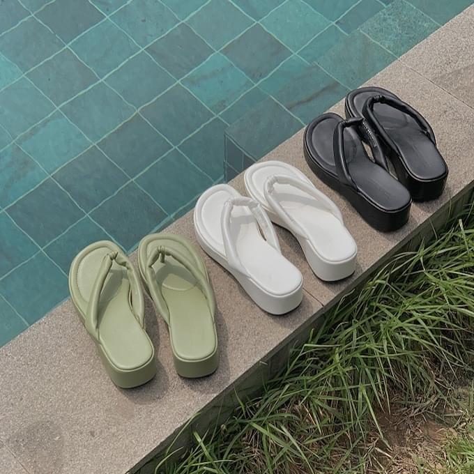 A-teen full-heel short slippers 涼鞋
