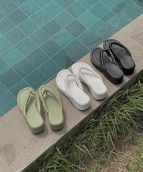 A-teen full-heel short slippers