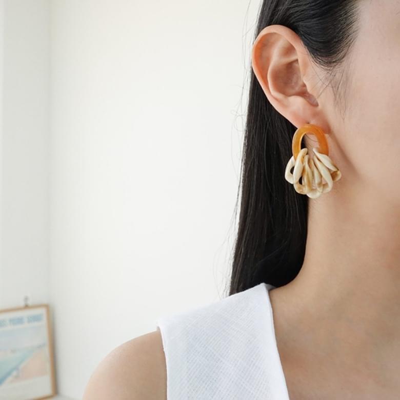 Modern color homica nickel-free needle earrings