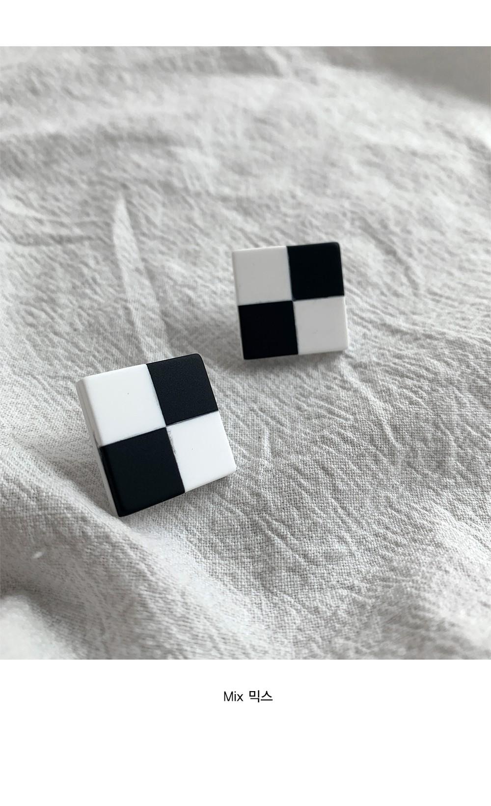 Checkerboard Earring